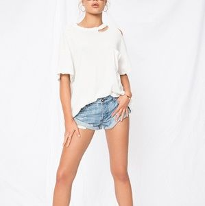 NWT Free People Lucky Tee in Ivory